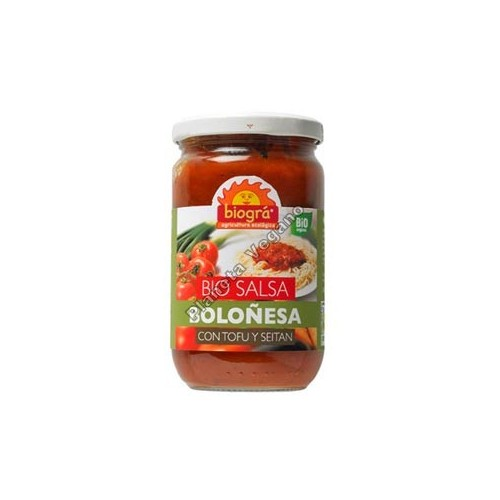 Salsa Boloñesa con Tofu y Seitan, 300 g. Biográ