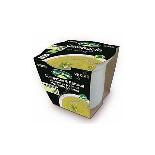 Crema de calabacín al hinojo en tarrina de 310 g -  Naturgreen