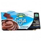 Postre de Soja con Cacao, 2 x 125 g. Naturgreen