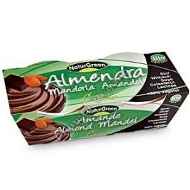 Postre de Almendra con Cacao, 2 x 125 g. Naturgreen