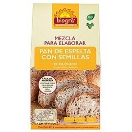 Mezcla para elaborar pan de espelta y semillas, 634g. Biográ