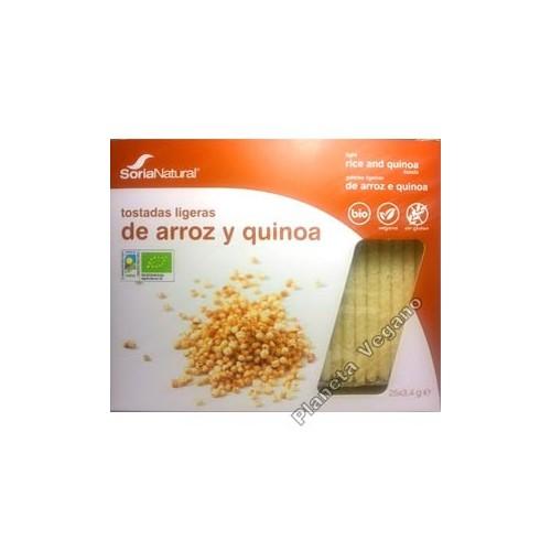 Tostadas Ligeras de Arroz y Quinoa. Soria Natural