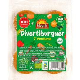 DivertiBurguer 7 Verduras, 120g Biográ