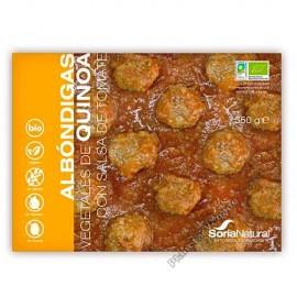 Albondigas Vegetales de Quinoa con Salsa de Tomate, 350g. Soria Natural