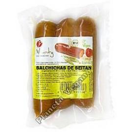 Salchichas ahumadas de Seitan, 150g. Wheaty