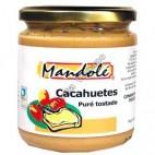 Puré de Cacahuete tostado, 325 g. Mandolé
