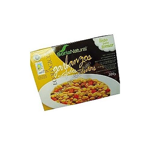 Garbanzos Estofados con Verduras, 300g. Soria Natural