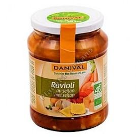 Raviolis Rellenos de Seitan, 670g. Danival