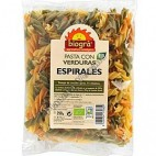 Pasta con Verduras, Espirales, 250g. Biográ