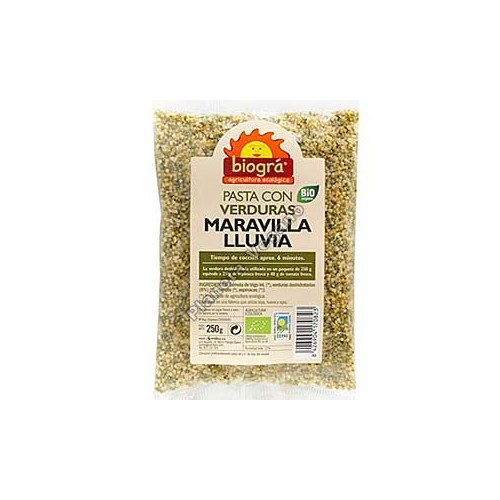 Pasta con Verduras, Maravilla Lluvia, 250g Biográ