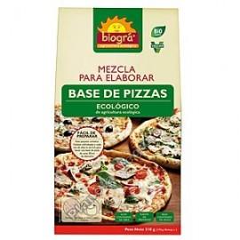 Mezcla para elaborar bases de pizza, 510g Biográ