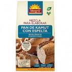 Mezcla para elaborar pan de kamut con espelta, 509g. Biográ