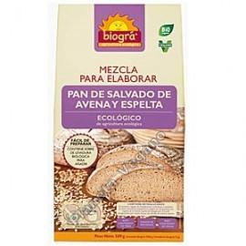 Mezcla para elaborar pan de salvado de avena y espelta, 509g. Biográ