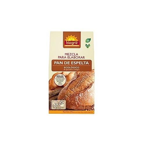Mezcla para elaborar pan de espelta, 509g. Biográ