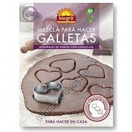 Mezcla para hacer Galletas de Espelta con Chocolate, 500g Biográ
