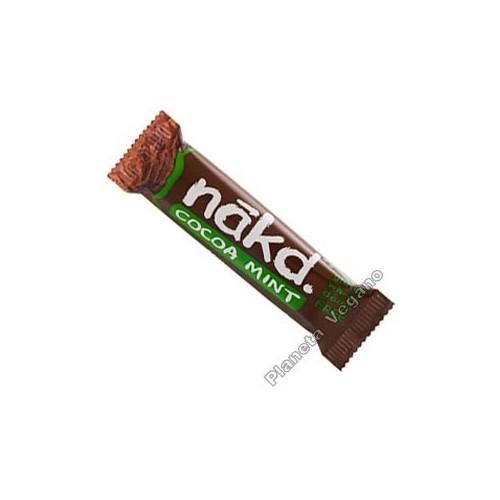 Barrita Energética Crudivegana con Cacao y Menta, 35 g. Nakd Bar