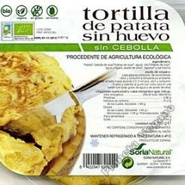Tortilla de Patata Vegana sin Cebolla, 250g Soria Natural