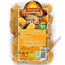 Croquetas Vegetales de Mijo, 190g. Biográ