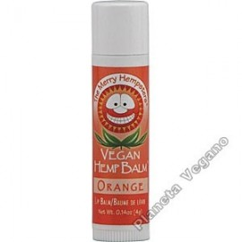 Bálsamo Labial Vegano de Cáñamo sabor Naranja, 4g