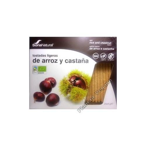 Tostadas Ligeras de Arroz y Castaña - Soria Natural