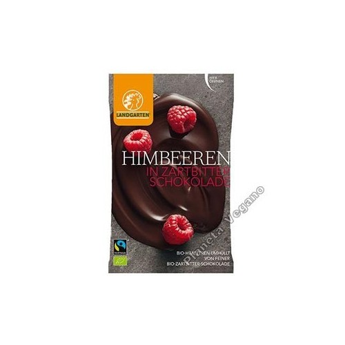 Frambuesas Recubiertas de Chocolate, 50g. Landgarten