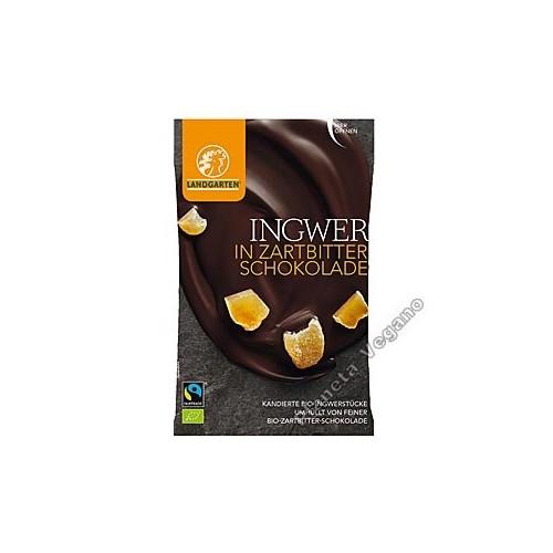 Jengibre Recubierto de Chocolate, 50g Landgarten