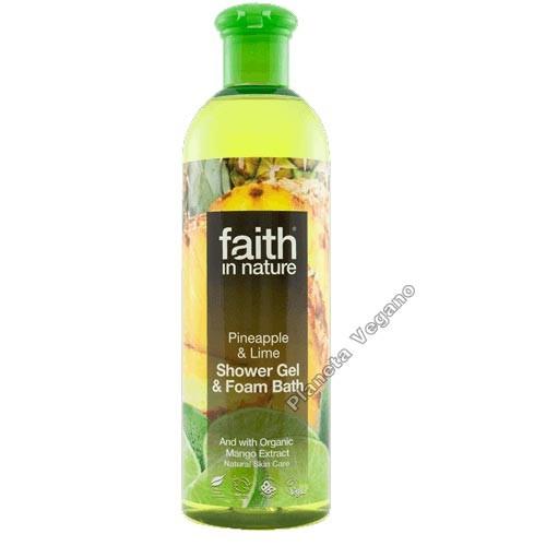 Gel de Baño con Piña y Limón, 400 ml Faith in Nature