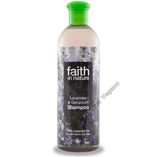 Champu Lavanda y Geranio, 400ml. Faith in Nature