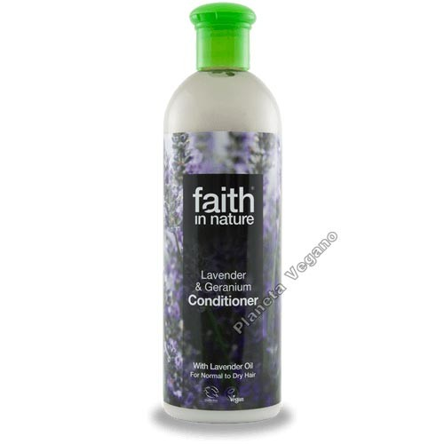 Acondicionador Lavanda y Geranio, 400ml. Faith in Nature
