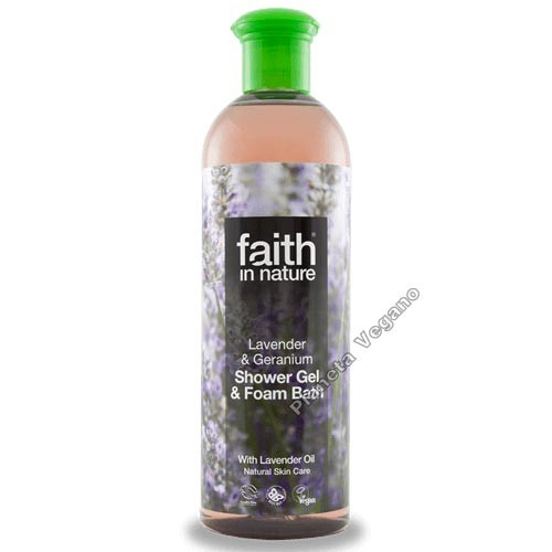 Gel de Baño Lavanda y Geranio, 400ml. Faith in Nature