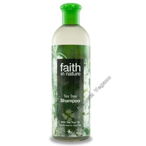 Champú con Árbol del Té, 400ml. Faith in Nature