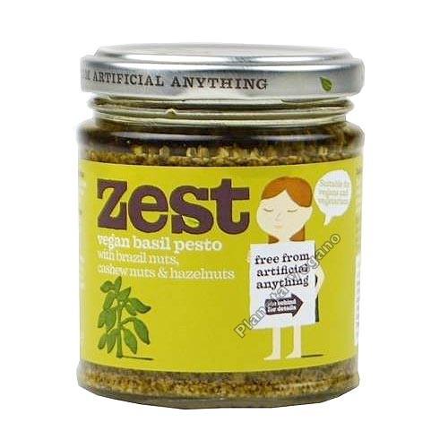 Pesto Vegano con Albahaca, 165g Zest