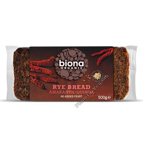 Pan de Centeno con Amaranto y Quinoa, 500g Biona