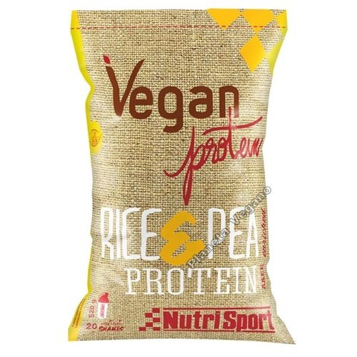 Proteína Vegana de Arroz y Guisante, 520g Nutrisport