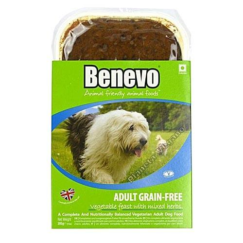 Pienso Vegano Húmedo sin Cereales Para Perros, 395g Benevo