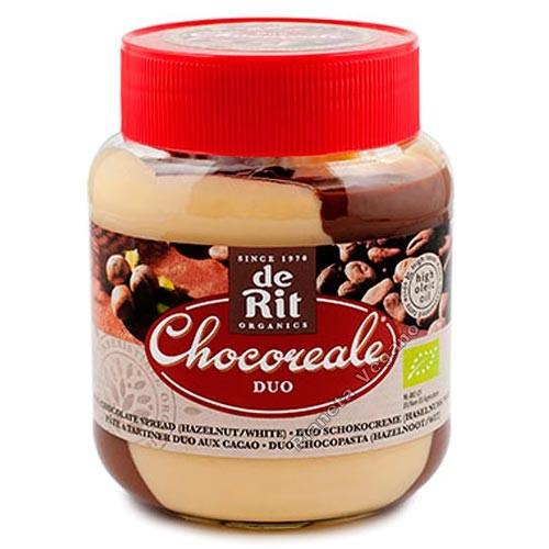 Crema de Chocolate Blanco y avellanas Duo Chocoreale, 350g. de Rit
