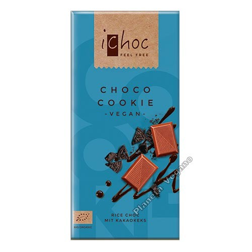 Chocolate Vegano con Galleta, 80 g. Ichoc
