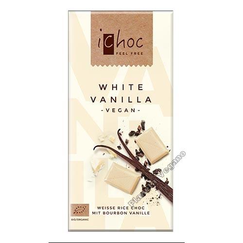 Chocolate Vegano Blanco con Vainilla, 80 g. Ichoc