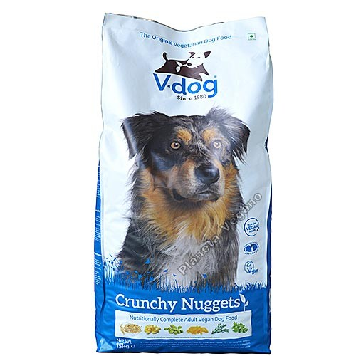 Pienso Vegano V-Dog Crunchy Nuggets 15kg