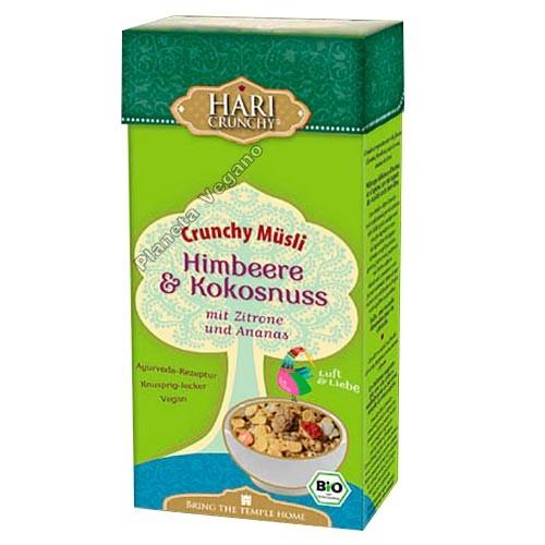 Muesli con Frambuesa y Coco, 275 g Hari Crunchy