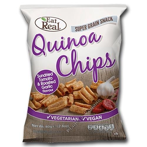 Snack de Quinoa con Tomate Seco y Ajo Asado, 80G Eat Real