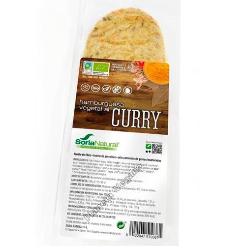 Hamburguesa Vegetal al Curry, 180g Soria Natural