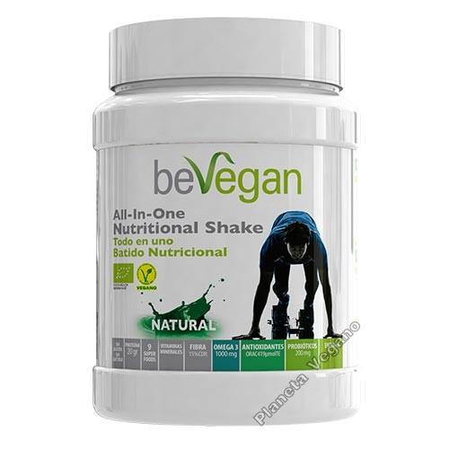 Nutritional Shake - Natural - Batido Nutricional Todo en Uno - Sabor Natural, 600g beVegan