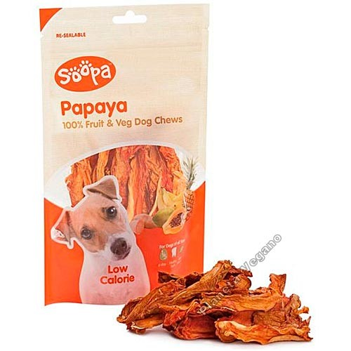 Snack Masticable de Papaya, 85g Soopa