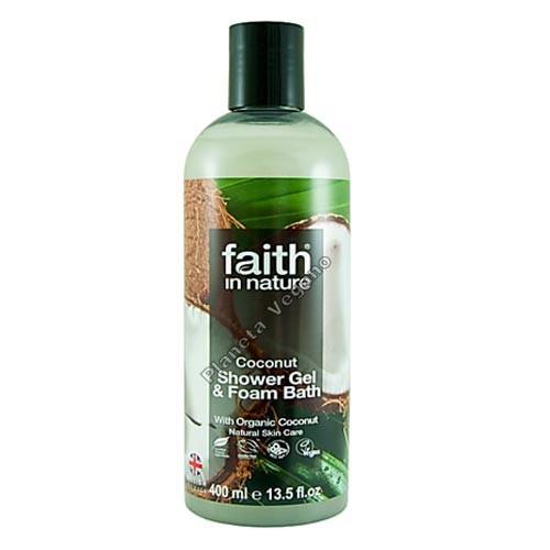Gel de Baño con Coco, 400 ml. Faith in Nature