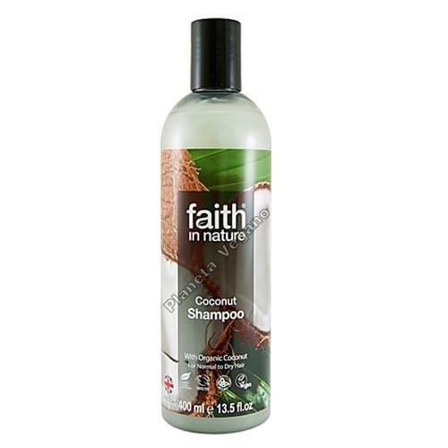 Champú de Coco, 400 ml. Faith in Nature