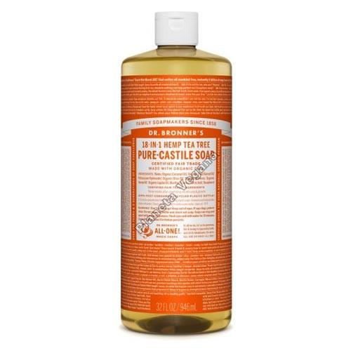 Gel de Baño todo en uno con Arbol del Té, 945 ml. Dr. Bronner´s