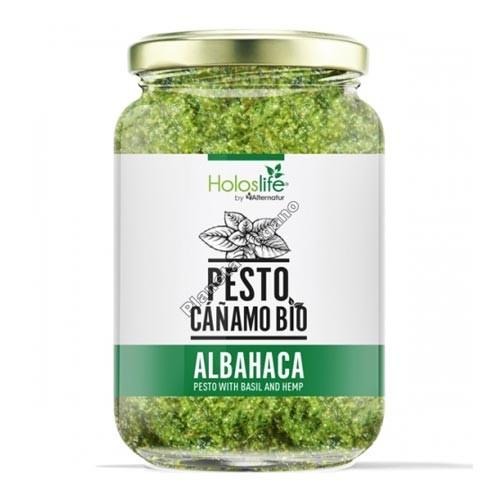 Pesto de Cáñamo y Albahaca, 130g. Holoslife