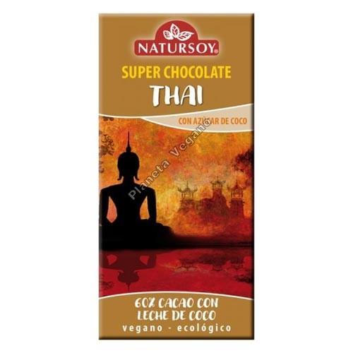 Chocolate Vegano Thai, 100g. Natursoy