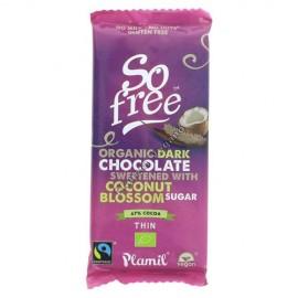 Chocolate Negro con Azúcar de Coco, 80g. Plamil